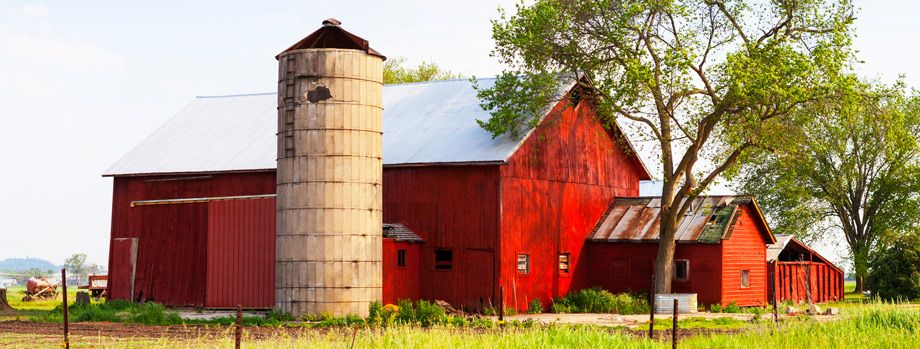agricultural red barn
